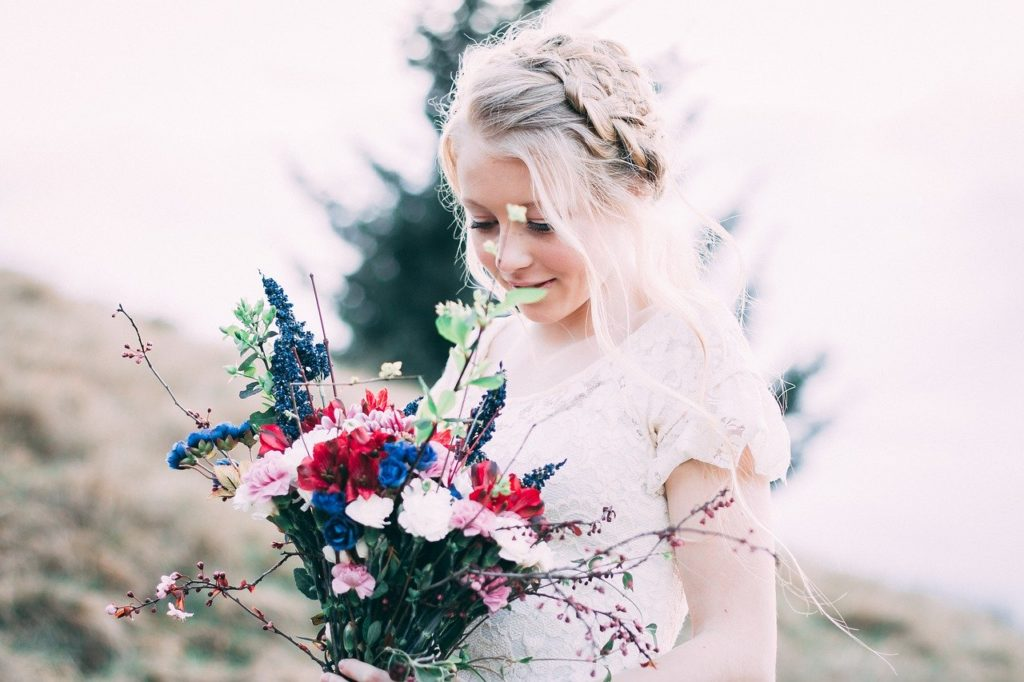 beautiful, flower, bride
